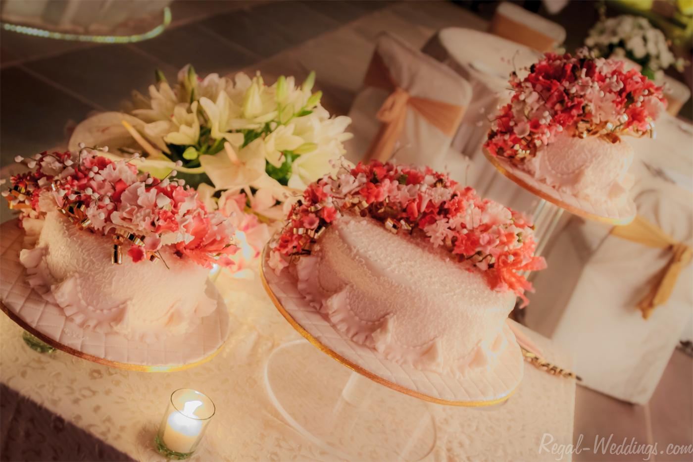wedding cake for reception cremony