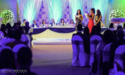 reception ceremony in Indian wedding