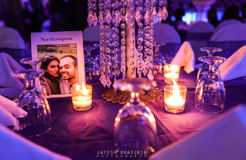 candle decoration in Wedding